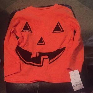 Kids pumpkin long sleeve shirt